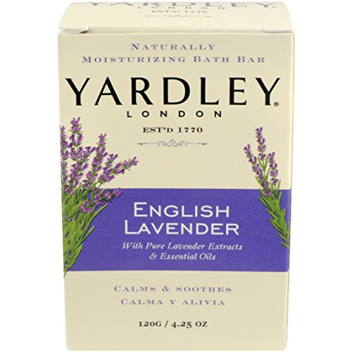 Yardley Naturally Moisturizing Bath Bar 4.25 oz ea, English Lavender, 4 Pack by Yardley