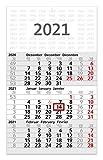 3-Monatskalender 2021 Wandkalender mit Datumschieber 2021 Bürokalender geiger- notes, 30 x 49 cm