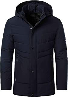 Landscap Men's Classic Hooded Puffer Jacket Winter Cotton Outwear Thickening Warm Hooded Padded Coat