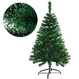 JINPIKER 120cm Christbaum Deko Weihnachten Künstlicher Weihnachtsbaum mit Metallständer, Einfache Auf- und Abbau (Grün PVC, 120CM)