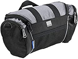 commercial Roswheel 11494 5L Capacity Bicycle Front Handle Bag Bicycle Basket Bicycle Accessory Set, Gray bike handlebar bags
