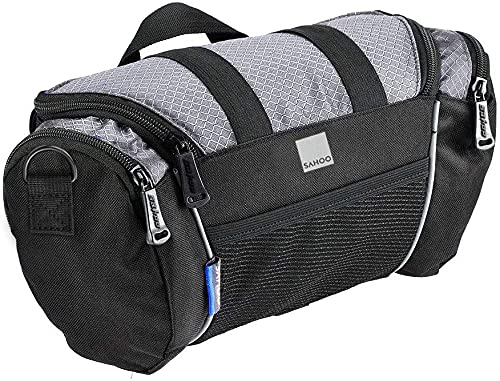 Roswheel 11494 5L Capacity Bike Front Handlebar Bag Bicycle Basket Cycling Accessories Pack, Grey