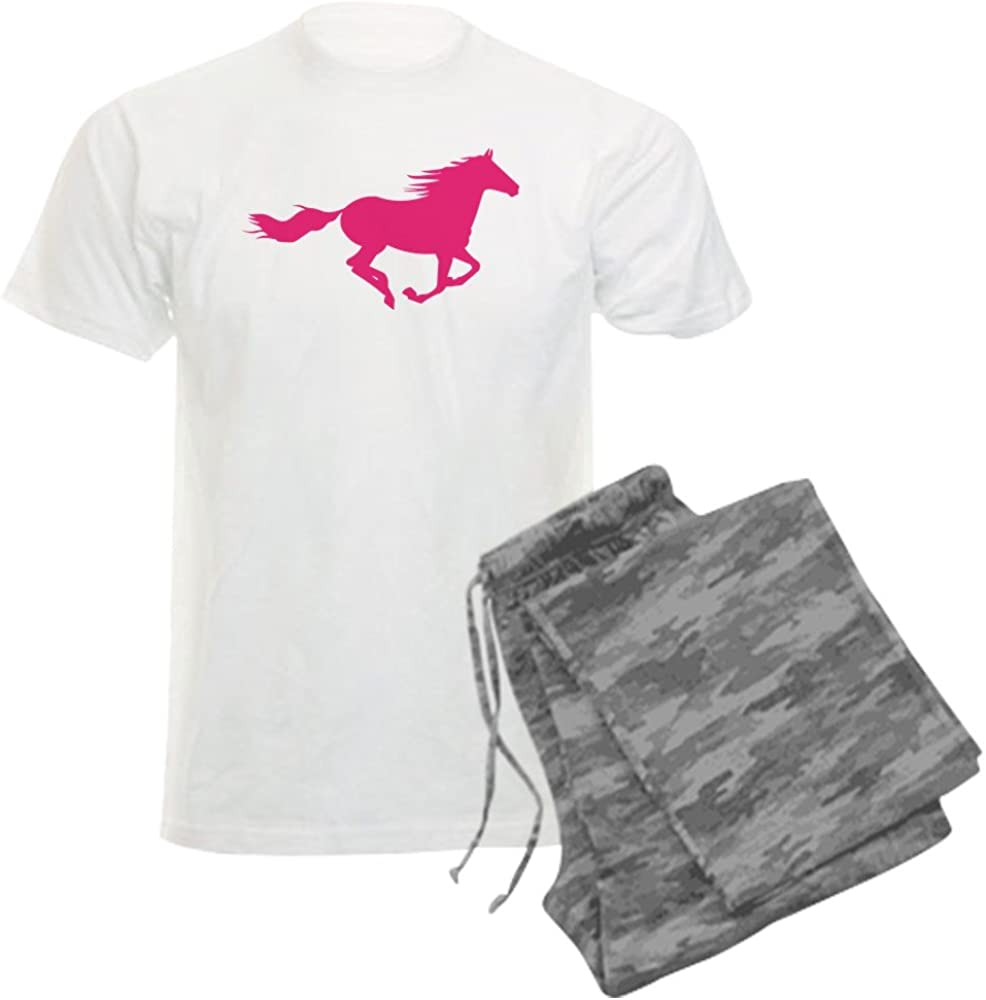 CafePress Horse shopping Elegant Silhouette Pajama Set