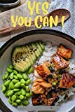 YES YOU CAN Weight Loss Journal: Simple Keto Dish Cover – 12 Week Food Diet Planner and Exercise Fitness Tracker – 90 Days of Detox to Fast Slim Down for Men and Women