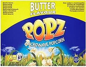Popz Butter Microwave Popcorn - 6 x 90g