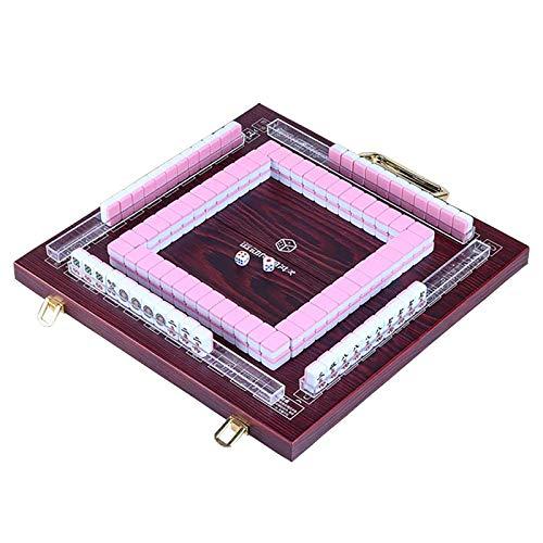 ZZJCY Portátil Chino Mahjong Establecer con Caja O Mesa Plegable De Madera,...