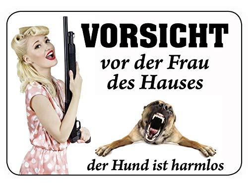 Blechwaren Fabrik Braunschweig Kulthänger Vorsicht vor Frau des Hauses - Hund ist harmlos KH055