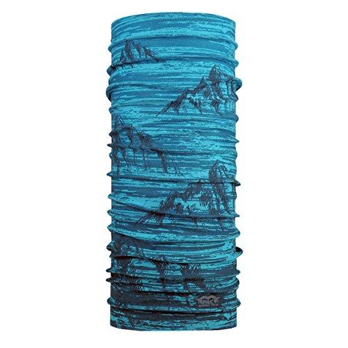 P.A.C. Merino Tech Jallga Mali Blue Multifunktionstuch - funktionelles Schlauchtuch, Halstuch, Schal, Kopftuch, Unisex, 10 Anwendungsmöglichkeiten