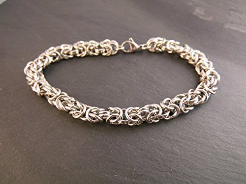 Armband Edelstahl Chainmail Chainmaille Kettenhemd SANDY