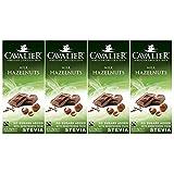 Cavalier Milchschokolade mit Haselnusstücken mit Süßungsmitteln aus Stevia, 4er Pack (4 x 85 g)