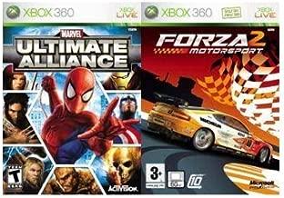 Activision Marvel Ultimate Alliance & Forza 2 Xbox 360 Deep Rich Customizable-Marvel Popular