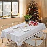 Essort Rectangle Mantel para Mesa PVC Hule Mantel Cuadrado para Comedor, Impermeable y Prueba de Aceite Hexágono 137 x 275 cm