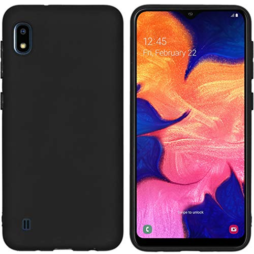 iMoshion kompatibel mit Samsung Galaxy A10 Hülle – Color Back Cover – Silikon Handyhülle Soft Case in Schwarz [Matt, Ultradünn, Anti-Rutsch]