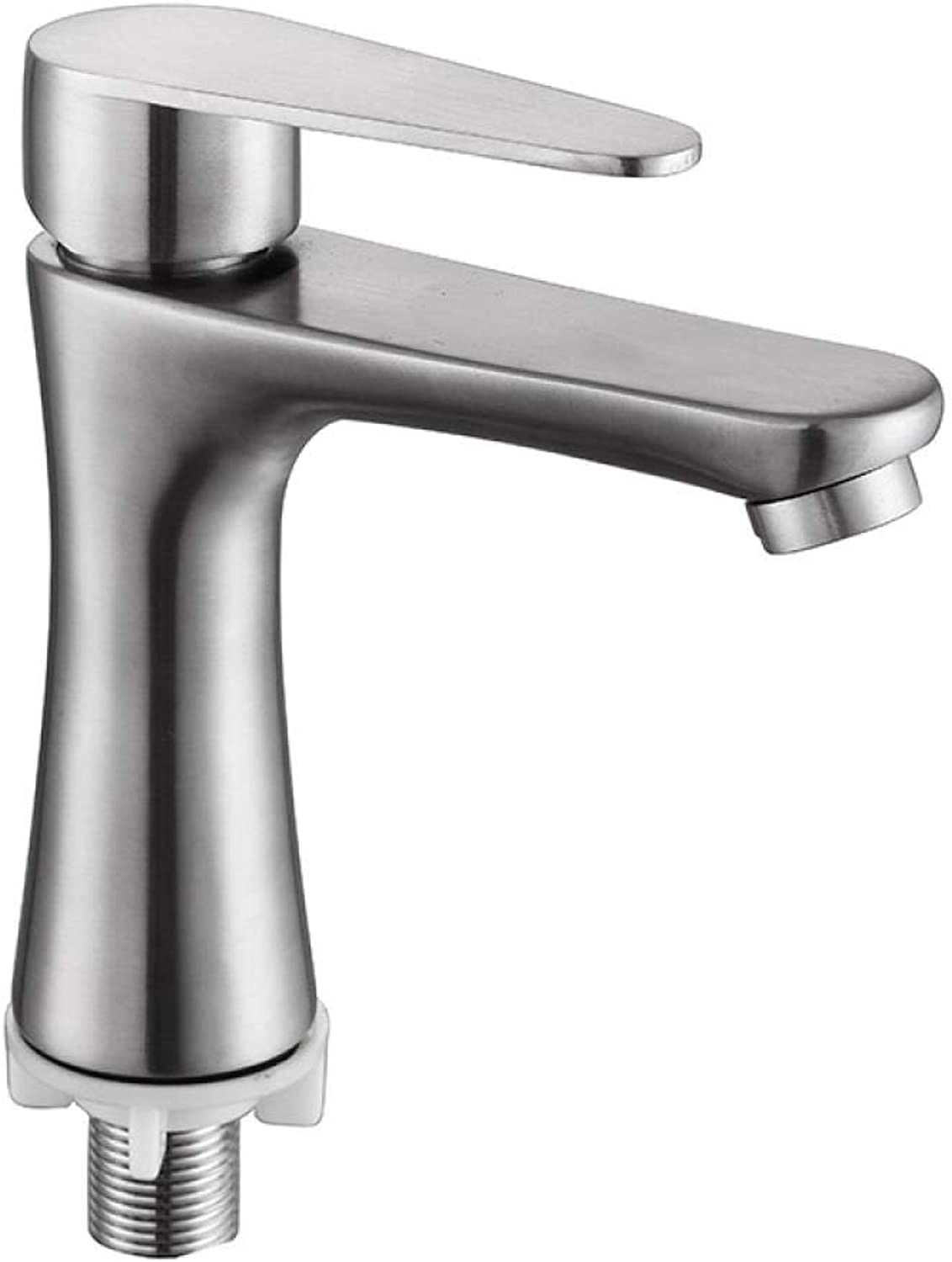 Stainless Steel Bathroom Single Cold Small Waist Plate Faucet Z762