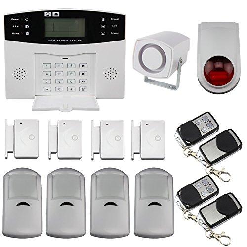 Impianto di allarme radio GSM con sensori per telefono di sicurezza, casa, ufficio, schermo