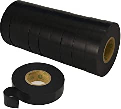 LICHAMP 10-Pack Black Electrical Tape Bulk Set, 3/4 Inch by 66 Feet 10 Rolls, Professional Grade UL and CSA Listed, PVC General Purpose Electrical Tape