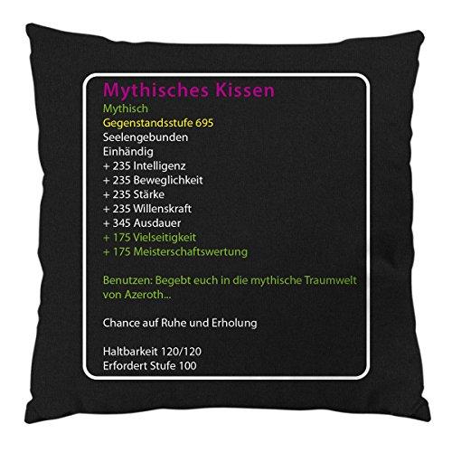 style3 Mythisches Kissen mit Füllung Baumwollbezug, Farbe:Schwarz
