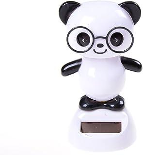 Dengguoli Cute Solar Powered Dancing Ornament Toys That Flip Flap for Car Home Desk Dancer Bobble Decarations (Panda)