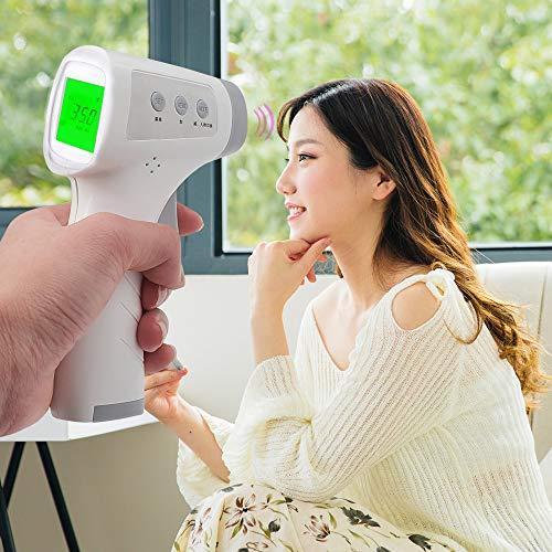 vbva-s Multifunctionele IR Thermometer, Quick Read Thermometer Niet-contact Infrarood Voorhoofd Thermometer Gebruik voor Lichaam/bad water/voedsel Testing (ange: 32°C-42.9°C / Afstand: 5cm-15cm)