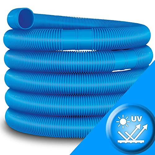 tillvex Poolschlauch 10m / 38mm blau   Schwimmbadschlauch mit Muffen   Solarschlauch für Pool und Schwimmbecken   Saugschlauch   Pumpenschlauch   Flexibler Wasserschlauch