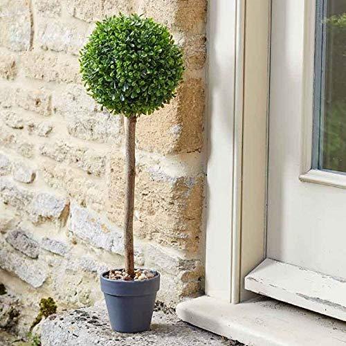 Árbol Topiario decorativo (40 cm), con maceta de guijarros, resistente a la intemperie