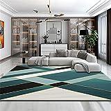 alfombra silla oficina cuadros decorativos modernos para sala Alfombra azul de oficina rectangular moderno de terciopelo bajo de terciopelo confortable alfombras infantiles 120X180CM 3ft 11.2'X5ft 10.