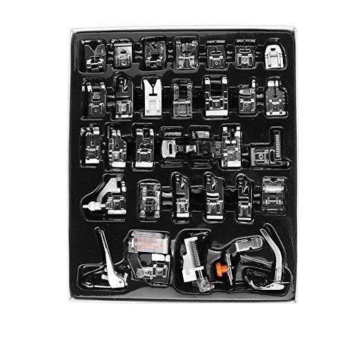 Kit de prensatelas para máquina de coser, piezas de repuesto y accesorios para máquinas Brother o Singer (Set de 36 Piezas)