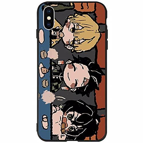 TXWM Anime Demon Slayer Series Funda de teléfono para iPhone 12 12 Pro 12 Pro Max 12 Mini, Kamado Tanjiro patrón de impresión TPU anti-arañazos huellas dactilares Basic-Cases DS-6-12ProMax