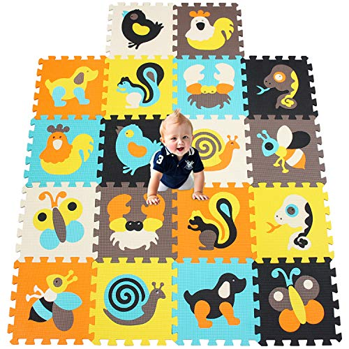 XMTMMD Schaumstoff Puzzle Matte Fruits Baby Gym Puzzle Spielmatte Kids Interlocking Soft Boden Fliesen Kinder Zimmer Play Bereich 18PCS AMP010010G301018