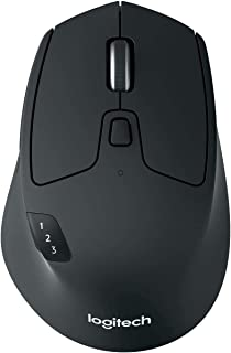 Logitech M720 Triathlon Wireless Mouse, Multi-Device, Bluetooth and 2.4 GHz with USB Unifying Receiver, 1000 DPI, 8-Button...