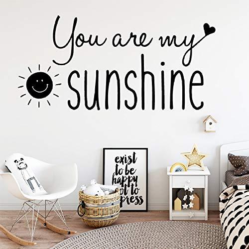 Vous êtes mon soleil Sticker mural Maison Chambre Salon Décoration Chambre d'enfants Décor Nuraery Soleil Stickers Muraux Art Mural 40 * 20 cm