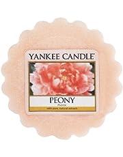 YANKEE CANDLE 22 g Peonía Tarta de Mantequilla de Cera aromatica, Rosa, 5.7x5.9x2.0 cm