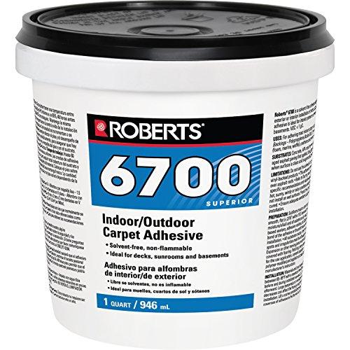 ROBERTS 6700-0 Carpet Adhesive, 1 Quart, Creamy Tan, 32 Fl Oz