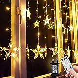 xiahe Luces de Navidad LED de Navidad con control remoto, cadena de luces de hadas con ganchos, 8 patrones parpadeantes para decoración de Navidad, dormitorio, boda, cumpleaños