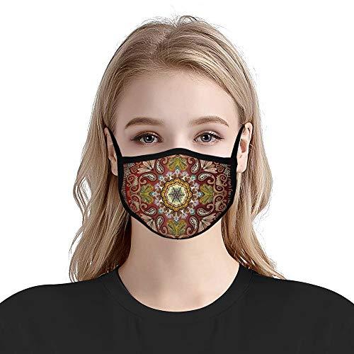 Cheyan Respirators Mode Mond Unisex Anti-Stof Vervuiling Fietsen Half Oorlus Voor Volwassen Vrouwen Mannen Bandana Paisley