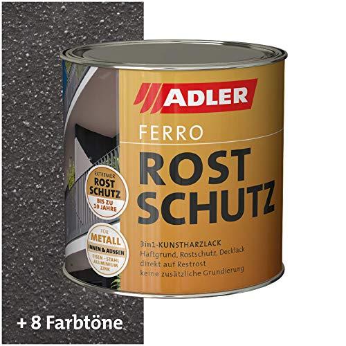 ADLER Ferro Rostschutz - Schmiede Antik 750 ml - Dekorative, beständige Rostschutzfarbe für Eisen, Stahl, Zink und Aluminium im Innen- und Außenbereich - restrostverträglich mit Grundierwirkung