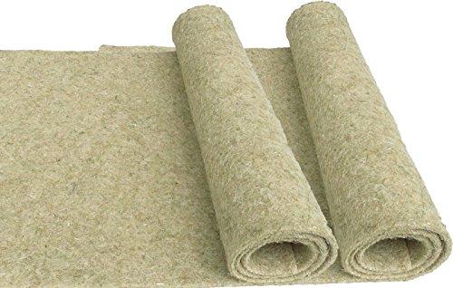 Nager-Teppich aus 100 % Hanf, 100 x 40 cm 5 mm dick ,2er Pack, (EUR 6,48 je Stück), Nagermatte geeignet als Käfig Bodenbedeckung z.B. für Kaninchen, Meerschweinchen, Hamster, Ratten u.a. Nagetiere
