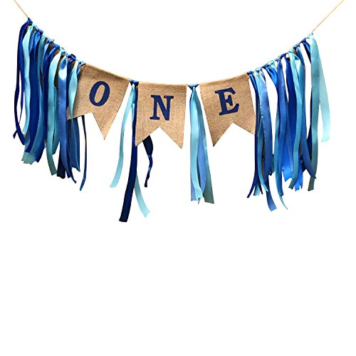 Funpa One Letter Banner Cloth Banner Stylish Garland Banner Hanging Banner for Kids Birthday