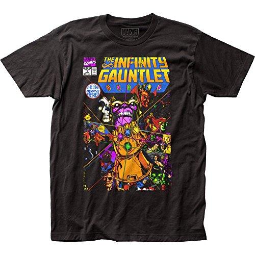 Marvel Thanos el guante infinito cupo la camiseta para hombre Medio Negro