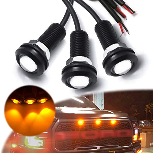 Xotic Tech 3pcs LED Front Grille Marker Lights w/Projector Lens Assembly...