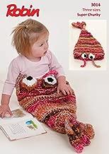 Robin Baby & Kids Fish Snuggle Bag Paintbox Splash Knitting Pattern 3014 Super Chunky