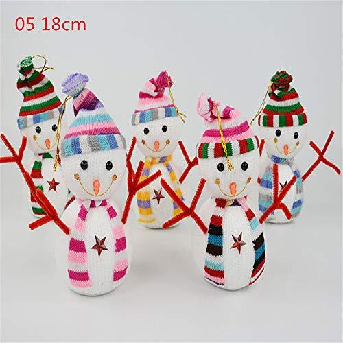 Longzhuo Weihnachtsdeko Deko-Figuren Schneemann-Süße Schneemann Deko Figuren mit Strickmützen Weihnachtsdeko