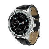 KLAYL Intelligente Uhr Y3 Smart Watch Mit SIM Slot IP65 wasserdichte Bluetooth Quad Core GPS Smartwatch Mann/Frau Smart Watches Für Xiaomi Huawei Phone, Schwarz