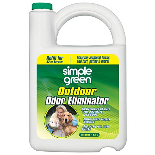 Simple Green Outdoor Odor Eliminator for Pets, Dogs, 1 gallon Refill - Ideal for Artificial Lawns & Patio