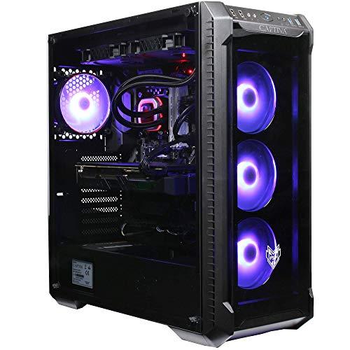 Captiva Highend Gaming I54-171 Gaming PC | Intel Core i9-10900X | RTX 2080 Ti 11GB | 32GB DDR4 RAM | SSD 1TB | HDD 2TB | Wasserkühlung | Lüfter | RGB Beleuchtung | Ohne Betriebssystem | PC Spiele
