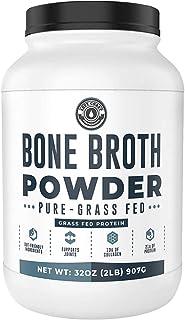 Bone Broth Powder, 2lb Pure Grass Fed Beef Bone Broth Protein Powder - Unflavored. Rich in Collagen, Glucosamine & Gelatin...