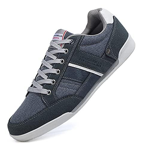 TARELO Zapatillas Hombre Casual Sneaker Moda Deportivas Interior Zapatos Gimnasia Comodos Exterior Running Deportes Talla 41-46 (Azul Claro, Numeric_43)