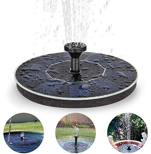 Solar Springbrunnen, 1.4W Vogelbad Brunnen Garten Deko,Gartendeko Solar Fontäne, Wasser Radfahren Für Gartenteich Oder Springbrunnen Vogel-Bad Fisch-Behälter
