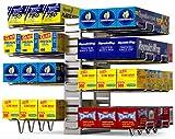 Vdomus Kitchen wrap Organizer Rack, Adjustable wrapstand for Kitchen Cabinet, Silver