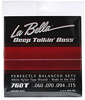La Bella 760T White Nylon Tapewound Bass Strings - Standard
